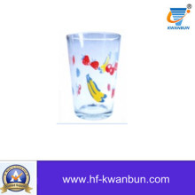 Decal Flower Glass Mug Glass Cup for Water Tableware Kb-Hn0741