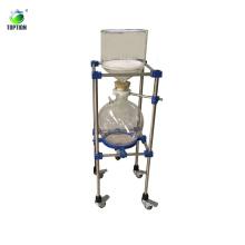 Fabricante de China para el embudo de Buchner del filtro de vacío del lote del laboratorio 20l con un disco de cristal sinterizado