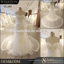 Neues Design alibaba Verkauf Porzellan nach Maß Hochzeitskleid