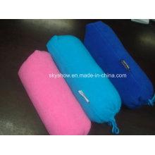 Einfache Polar Fleece-Decke mit Tasche (SSB0203)