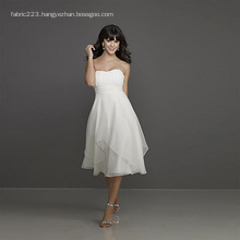Empire Sweetheart Knee-length Chiffon Two-layer