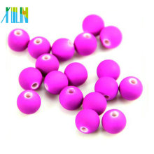 10mm rubber effect round plastic beads