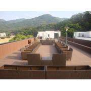 Eco-Friendly Wood Plastic Composite Outdoor WPC Floor Decking Tiles