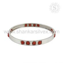 Fluorescência coral gemstone pulseira de prata 925 prata esterlina joalheria jóias atacadista