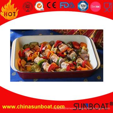 Rectangular Enamel Roaster/Vegetable&BBQ Roaster/French Style Roaster
