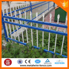 Spear top high security powder coated metal zinc steel fence
