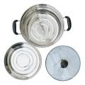 olla de inducción de cocina de utensilios de cocina de acero inoxidable