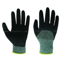 Anticorte guante de trabajo de capa media con nitrilo (K8084-18)