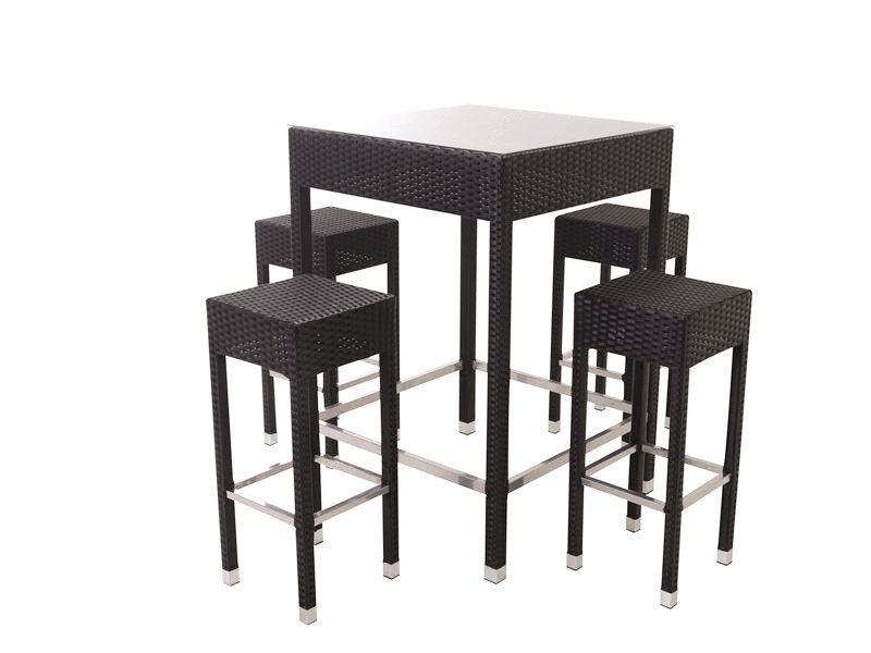lawn rattan outdoor bar table set