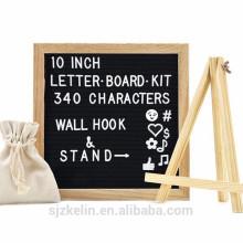 Venda quente feltro carta preta com letras 182pcs e símbolos e emojis