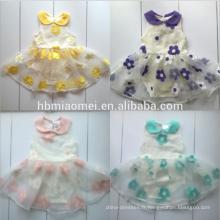 En gros coloré body infantile floral bébé jumpsuit onesie bébé fille 100% coton bébé tutu barboteuse