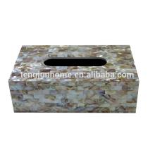 Chinesisch Süßwasser Schale Spray volle Seiten Rechteck Tissue-Box