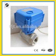 Válvula de esfera elétrica de aço inoxidável DC12V DC24V de 2 vias para aquecedores de água solares, máquinas de lavar roupa, aquecedores de água