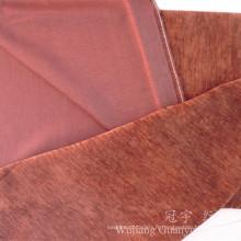 Tissu de chenille de polyester teint par fil de couleur simple pour le sofa