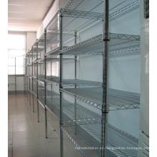 Estante ajustable de estantería de exhibición de metal para supermercado / tienda, aprobación NSF