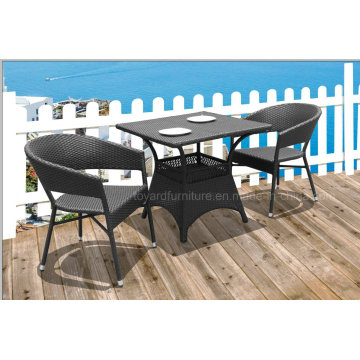 Outdoor Hotel Cafe Wicker Table et chaise en rotin (D531; S310)