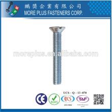 Made in Taiwan M4x8mm ROHS Nickel Knurled Countersunk Head Machine Screw