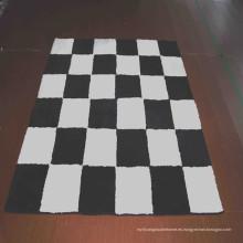 Alfombra de alfombra de área alfombra de blanco y negro