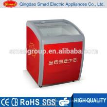 Congelador de cristal de la exhibición de cristal superior superior de la puerta de cristal