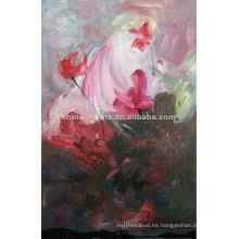 Pintura al óleo abstracta de la decoración del hogar de la flor del artista famoso
