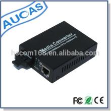 Convertidor de medios de Ethernet rápida de alta calidad de fibra óptica al precio del convertidor de medios rj45