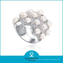 925 prata esterlina branco prata jóias anel para amostra grátis (r-0398)