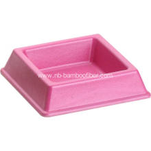 Bamboo Fiber Square Pet Bowl