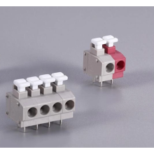 Push wire connector for connecting electronic circuit