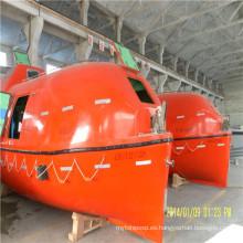 Bote salvavidas totalmente cerrado con cinturón de seguridad
