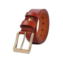 Hot sale 38mm width man's high quality genuine leather belt