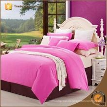 Alta calidad 4 piezas de ropa de cama de color sólido conjunto al por mayor