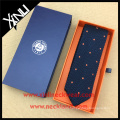 Mens Silk Knitted Ties China Manufacturer Embroidery Dots Necktie Blue