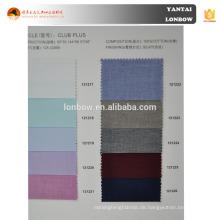 Männer 100% Baumwolle verschiedene Farbe Vogel Auge Shirt Stoff