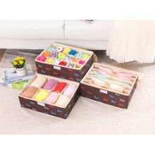 Brown Nylon-Oxford Storage Bag Socks/Bra Storage Box