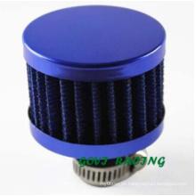Filtro de aire azul de la motocicleta filtro de la toma de aire del coche 13m m