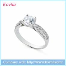 Nouveaux produits 2016 925 bijoux en argent sterling anneaux en cristal de diamant