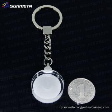 Sunmeta sublimation crystal keychain keyrings wholesale---manufacturer