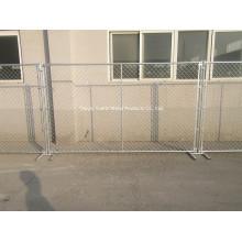 Esgrima temporal revestido del PVC / cerco de acero galvanizado comercial de la seguridad