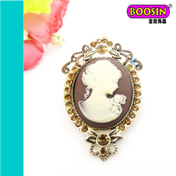 China Wholesale Vintage Classical Antique Cameo Brooch Pin