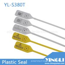 Logística one-time usando selo plástico com número de série