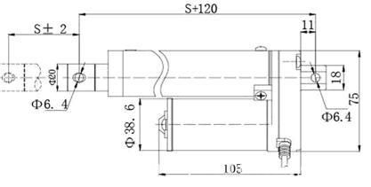 ZQTG01 dc linear actuator / dimension