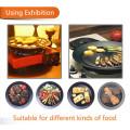 Non-Stick Não Fumaça Round BBQ Grill Plate com LFGB Aprovar