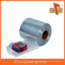 Miosture proof PVC sleeve shrink film , plastic transparent film roll with customize