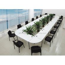 Mesa de conferencia moderna desmontable de la melamina en blanco (FOHFN-01)