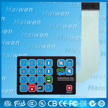 Personalizado impermeável Membrana Switch Com Metal Dome E 3M467