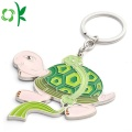 Unique Design  Auspicious Gifts Printing Silicone Keyrings
