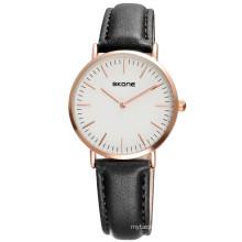 OEM Cheap Leather Strap Quartz Wrist Watch For Womens
