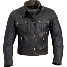 Custom Mens wax coated motorcycle apparel jacket