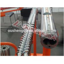 Canon à double vis parallèle en acier allié Sumitomo pour tuyau en PVC