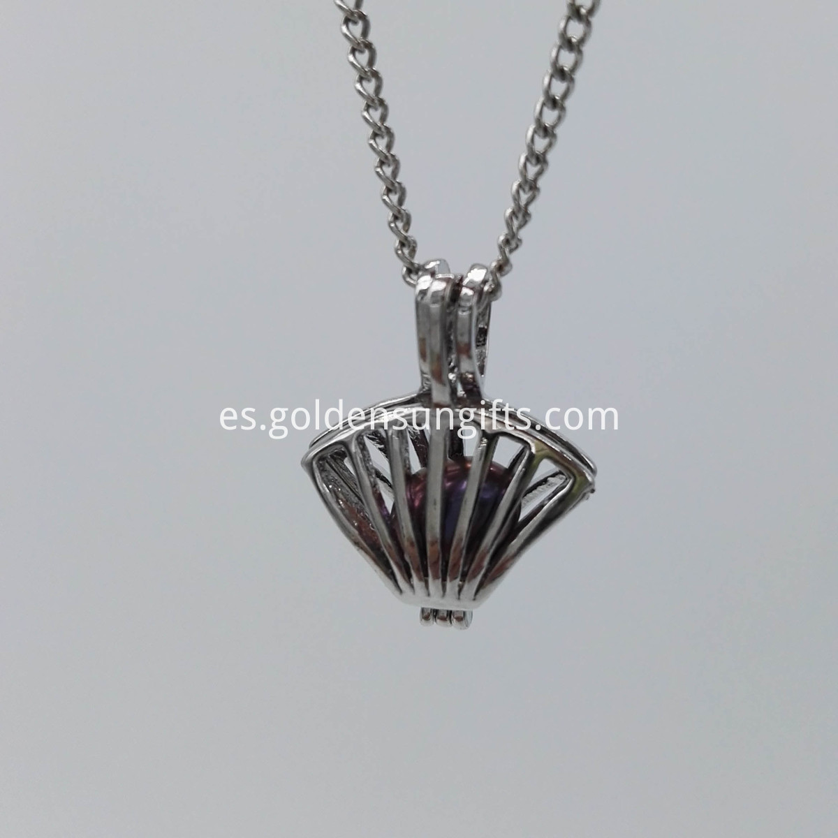 Shell Cage Pendant